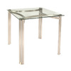 Trica Sabrina Brushed Steel Square Dining Table