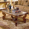 Homelegance Tarantula Burnished Brown Cherry Poplar Rectangular Coffee Table