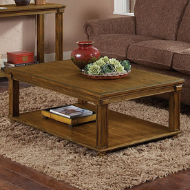 Shop Homelegance Ardenwood Brown Rubberwood Rectangular Coffee Table At