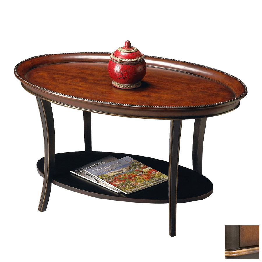 Shop Butler Specialty Artists Originals Cafe Noir Oval Coffee Table At