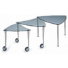 New Spec Cota Chrome/Clear Glass Triangle Coffee Table