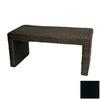 Oriental Furniture Fiber Weave Black Rectangular Coffee Table