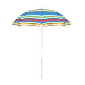 Picnic Time 7-ft Multicolor Patio Umbrella