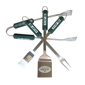 BSI Products 4-Piece New York Jets BBQ Grilling Tool Set