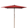 Jordan Manufacturing 8-ft 6-in Red Market Umbrella