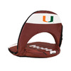 Picnic Time NFL Miami Hurricanes Steel Folding Chair
