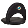 Picnic Time 1 Indoor/Outdoor Steel Miami Dolphins Bleacher Folding Chair