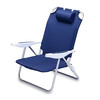 Picnic Time Navy Steel Folding Beach Chair