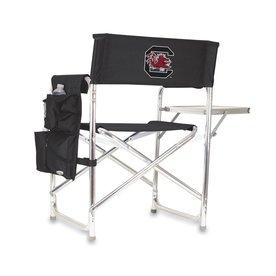 Picnic Time 1 Indoor/Outdoor Aluminum Metallic South Carolina Gamecocks Standard Folding Chair
