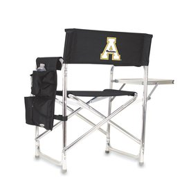 Picnic Time 1 Indoor/Outdoor Aluminum Metallic Appalachian State Mountaineers Standard Folding Chair