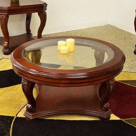 shop royal manufacturing cherry round coffee table at. Black Bedroom Furniture Sets. Home Design Ideas