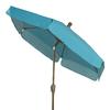 Fiberbuilt Home Teal Market Patio Umbrella