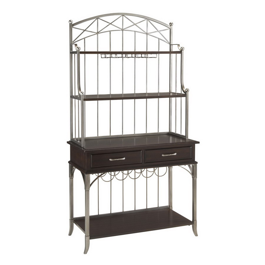Shop Home Styles Bordeaux Espresso Rectangular Bakers Rack At Lowes.com
