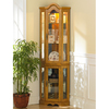 Southern Enterprises Golden Oak Corner China Cabinet