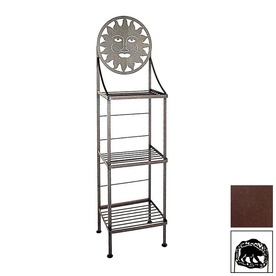 Grace Collection Silhouette Aged Iron Rectangular Bakers Rack