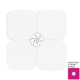Nameeks Fiorilu 21.653-in x 21.653-in White/Fuchsia Bath Mat