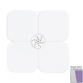 Nameeks Fiorilu 21.653-in x 21.653-in White/Lilac Bath Mat
