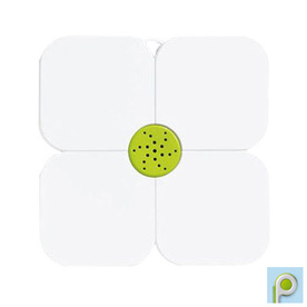 Nameeks Fiorilu 21.63-in x 21.63-in White/Green Bath Mat