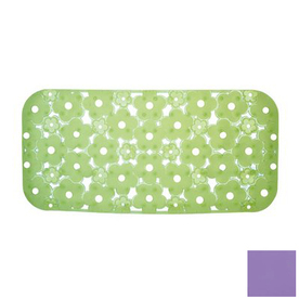 Nameeks Margherita 28.346-in x 17.771-in Lilac Vinyl Bath Mat