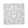 Nameeks 20-3/8-in x 20-3/8-in Margherita White Vinyl Bath Mat