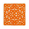 Nameeks 20-3/8-in x 20-3/8-in Margherita Orange Vinyl Bath Mat