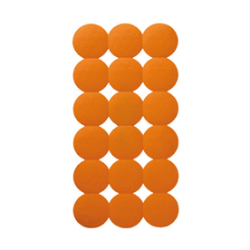 Nameeks 31-1/8-in x 15-5/8-in Giotto Orange Rubber Bath Mat