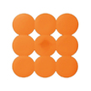 Nameeks 21-1/2-in x 21-1/2-in Giotto Orange Rubber Bath Mat