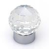 Topex Hardware Swarovski Bright Chrome Globe Cabinet Knob