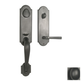 Shop Continental Hardware Granada Dark Bronze Single Lock Keyed Entry Door Ha