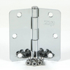 Stone Mill Hardware 2-Pack 3-1/2-in Polished Chrome Entry Door Hinges