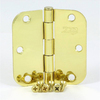 Stone Mill Hardware 2-Pack 3-1/2-in Polished Brass Entry Door Hinges