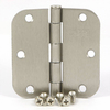 Stone Mill Hardware 2-Pack 3-1/2-in Satin Nickel Entry Door Hinges