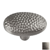 The Copper Factory Satin Nickel Artisan Oval Cabinet Knob