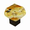 Grace White Glass 1-3/8-in Satin Nickel Aquavista Square Cabinet Knob