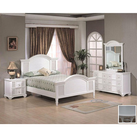 White Queen Bedroom Set : ... Hospitality Rattan Ships Wheel White Queen Bedroom Set at Lowes.com