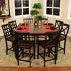 Greystone Prato Black/Suede Rectangular Dining Table