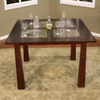 Greystone Trento Walnut Square Dining Table