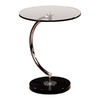Lumisource Chrome Round End Table