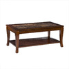Southern Enterprises Cambria Brown Cherry Rectangular Coffee Table