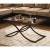 Boston Loft Furnishings Vogue Distressed Black/Copper Metal Rectangular Coffee Table