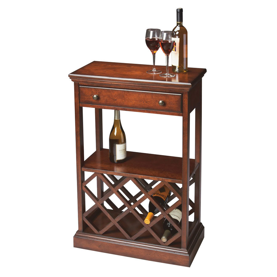 Shop butler specialty plantation 8 bottle cherry for Floor wine rack