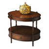 Butler Specialty Masterpiece Madrid Brown Poplar Oval End Table