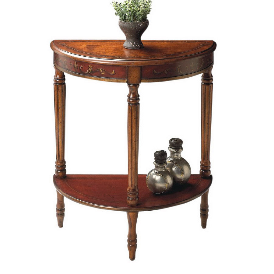 shop butler specialty cherry red paint half round end table at. Black Bedroom Furniture Sets. Home Design Ideas