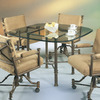 Pastel Furniture 1478 Caster Autumn Rust Square Dining Table