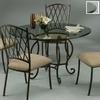 Pastel Furniture Atrium Autumn Rust Round Dining Table