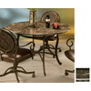 Pastel Furniture Island Falls Autumn Rust Round Dining Table
