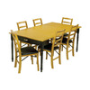 Stakmore Black/Oak Rectangular Dining Table