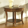 Somerton Home Furnishings Gatsby Medium Brown Walnut Oval End Table