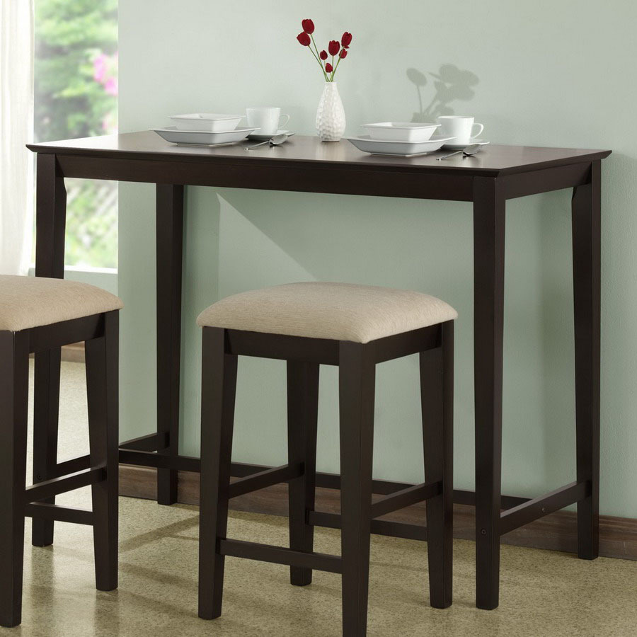 Cappuccino Rectangular Counter Height Dining Table At