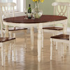 Monarch Specialties Antique White/Walnut Oval Dining Table